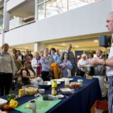 Cookery stall with audience